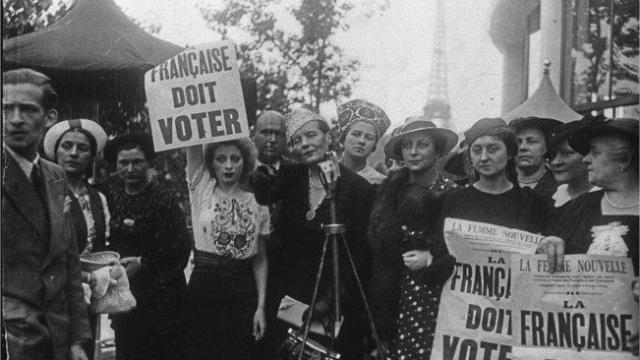 Droit de vote femme corse